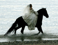 Bride on Horse lakefront