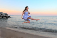 Irish Dancer at beach